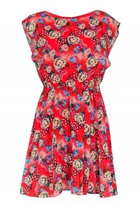 Alice & Olivia short dress red Day Floral on Tradesy