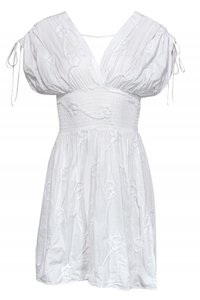 Anne Fontaine short dress white Day Floral on Tradesy