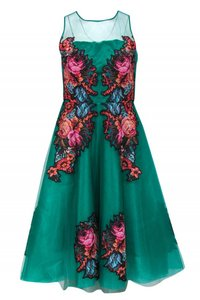 Anthropologie short dress green Gowns Emerald Tulle on Tradesy