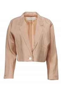 Escada Jackets Peachy Linen Cropped Blazer