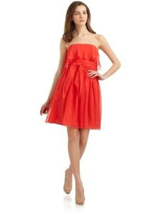 Halston Heritage Flowy Party Pink Ruffle Dress