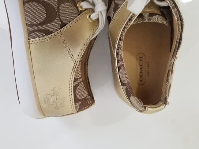 Coach Tan and Gold Bobbey Sneakers Size US 6.5 Regular (M, B) Coach Tan and Gold Bobbey Sneakers Size US 6.5 Regular (M, B) Image 2