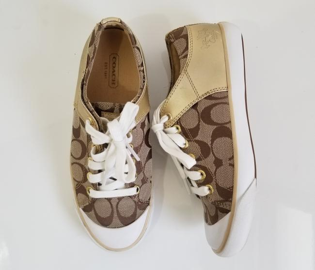 Coach Tan and Gold Bobbey Sneakers Size US 6.5 Regular (M, B) Coach Tan and Gold Bobbey Sneakers Size US 6.5 Regular (M, B) Image 3
