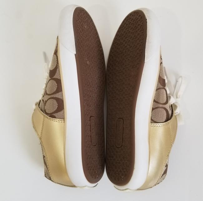 Coach Tan and Gold Bobbey Sneakers Size US 6.5 Regular (M, B) Coach Tan and Gold Bobbey Sneakers Size US 6.5 Regular (M, B) Image 5