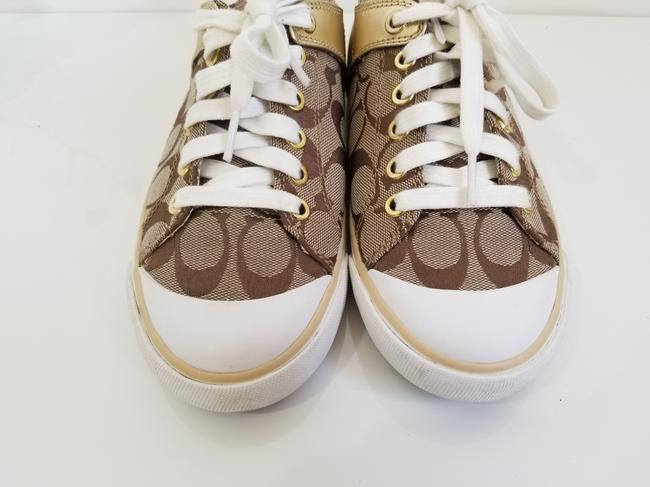 Coach Tan and Gold Bobbey Sneakers Size US 6.5 Regular (M, B) Coach Tan and Gold Bobbey Sneakers Size US 6.5 Regular (M, B) Image 6