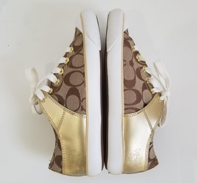 Coach Tan and Gold Bobbey Sneakers Size US 6.5 Regular (M, B) Coach Tan and Gold Bobbey Sneakers Size US 6.5 Regular (M, B) Image 7