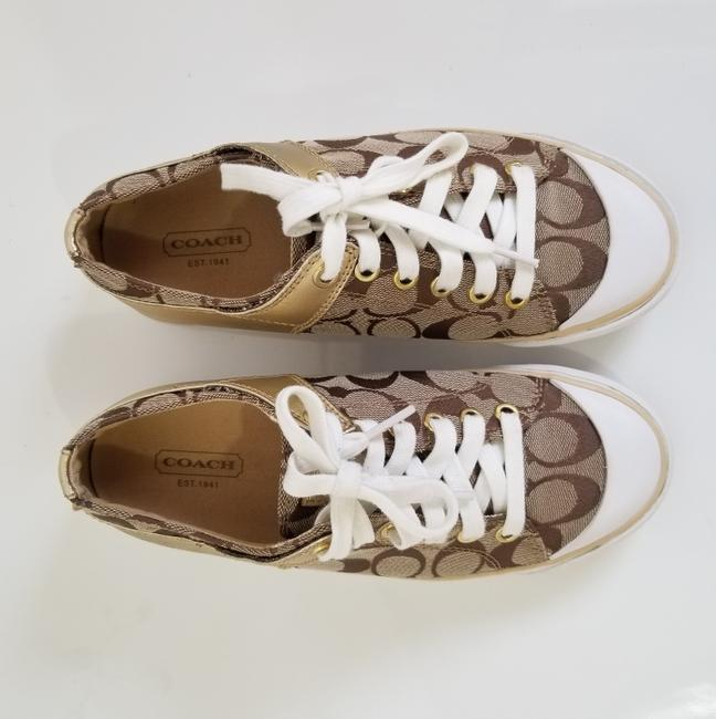 Coach Tan and Gold Bobbey Sneakers Size US 6.5 Regular (M, B) Coach Tan and Gold Bobbey Sneakers Size US 6.5 Regular (M, B) Image 8