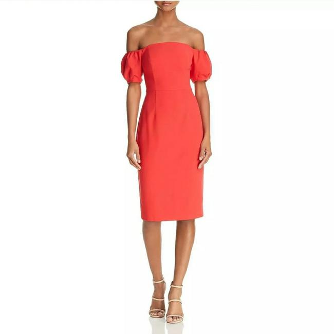 Item - Red Sleeveless Mid-length Work/Office Dress Size 0 (XS)