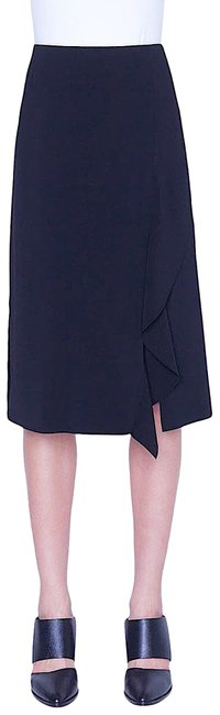 Item - With Tag Asymmetrical Ruffle Crepe Midi Skirt Size 6 (S, 28)