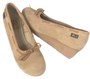 Sbicca Retro Boho Casual CAMEL Wedges