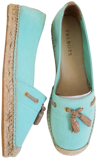 Item - Mint Canvas Tassel Loafer Espadrille Flats Size US 7 Regular (M, B)