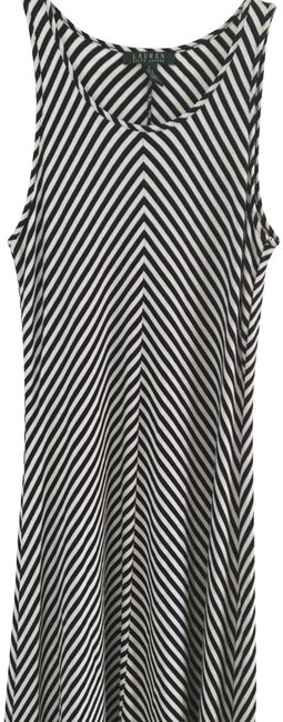Item - Navy and White Summer Striped Long Casual Maxi Dress Size 4 (S)