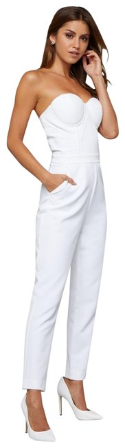 Item - White Strapless Bustier Bodice Supportive Boning 6 Romper/Jumpsuit