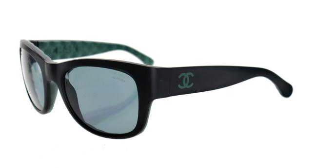 Item - Matte Black Green Ch 6049 C.1481/Z7 55mm Quilted Polarized Sunglasses