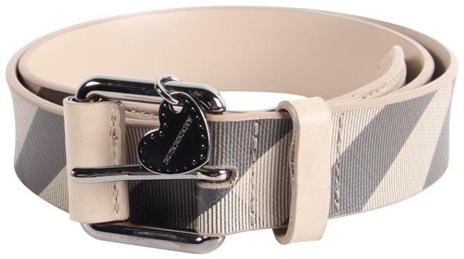 Item - Grey Warm Grainy Leather House Check Belt