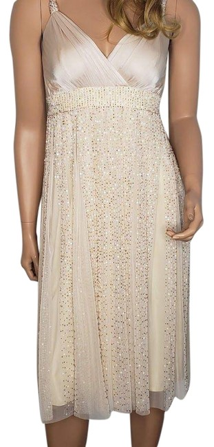 Item - Blush Pink Beaded Mid-length Cocktail Dress Size 2 (XS)