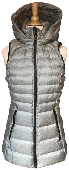 Item - Gray Silver Down For It Puffer Puffy Vest Size 4 (S)