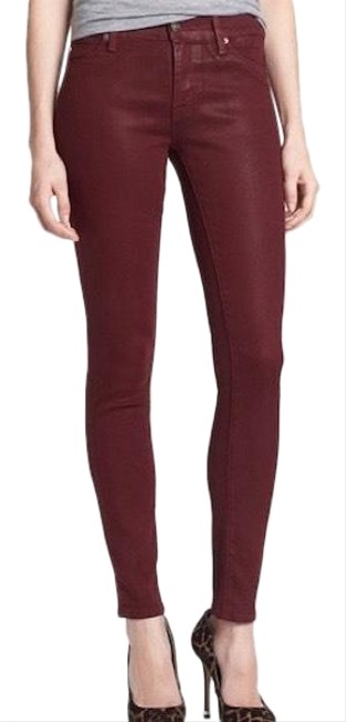 Item - Red Coated Krista Super Skinny Jeans Size 2 (XS, 26)