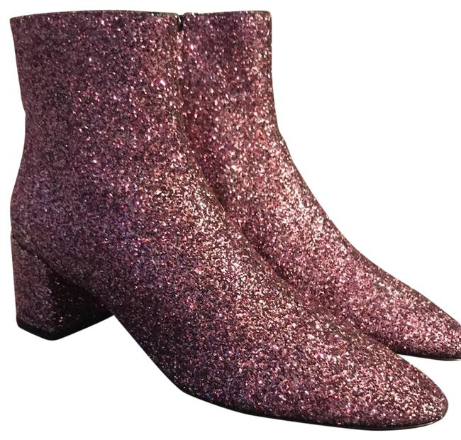 Item - Pink Monogram Loulou Glitter Rose Boots/Booties Size EU 39 (Approx. US 9) Narrow (Aa, N)