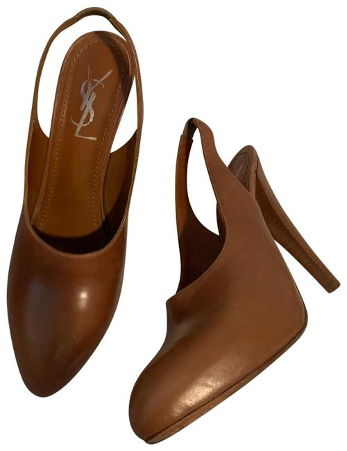 Item - Brown Slingback Leather Pumps Size EU 39 (Approx. US 9) Regular (M, B)