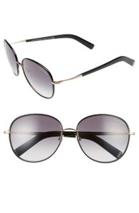 Tom Ford Tom Ford Georgia TF0498 Black Rose Gold Soft Rounded Sunglasses