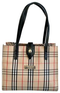 Burberry Blue Label London Check Tote in Beige, Black