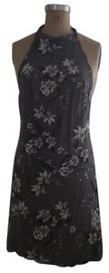 Cleobella short dress gray Floral Halter Sundress Flowy on Tradesy