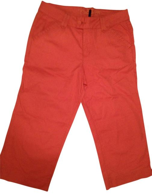 Item - Orange Coated Capri/Cropped Jeans Size 36 (14, L)