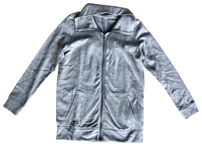 Item - Grey Zip Up Jacket Activewear Size 8 (M)
