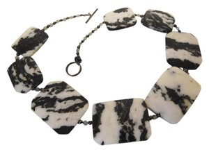 Colleen Lopez Colleen Lopez Black & White Zebra Jasper Gemstone 18
