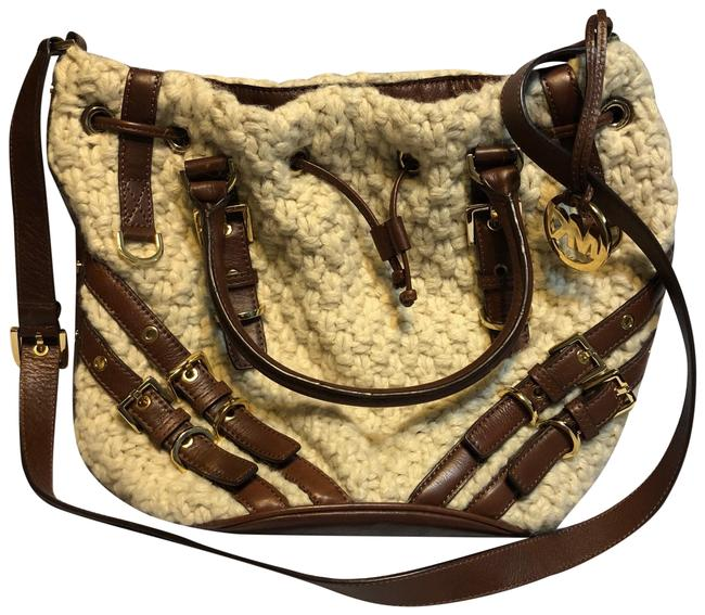 Item - Knit Cream Wool Cross Body Bag