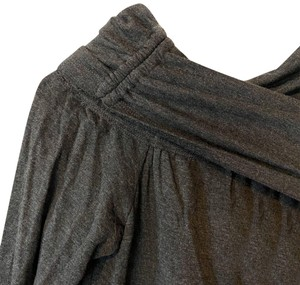 Lou & Grey Charcoal Off The Shoulder Stretch Country Evening Top Dark Gray