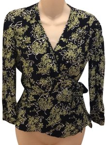 Anna Sui Top Black and Green