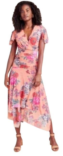 Item - Multi Floral Long Casual Maxi Dress Size 6 (S)