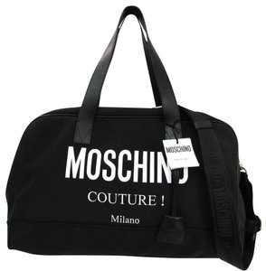 Moschino Satchel in Black / White