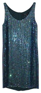 Carmen Marc Valvo Sequin Night Out Mini Glamour Party Dress