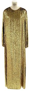 Gold Maxi Dress by Michael Kors Collection Silk