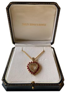 Bailey Banks Biddle Bailey Banks & Biddle Ruby + Diamond 14K Gold Heart Pendent Necklace