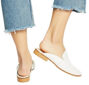 Free People White Mules
