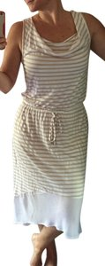 Tan and White Maxi Dress by 7 For All Mankind High Low High Low High-low