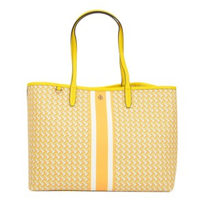 Tory Burch Tilt T Zag Large Tote in Yellow