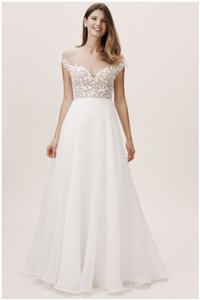 Jenny Yoo Ivory Almond Westerly Gown Bhldn Feminine Wedding Dress Size 14 (L)
