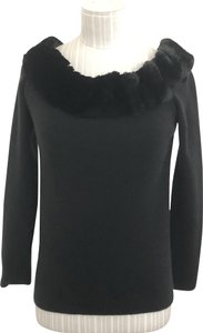 Bergdorf Goodman Faux Fur Collection Sweater