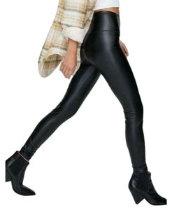 7 For All Mankind Faux Leather Black Leggings