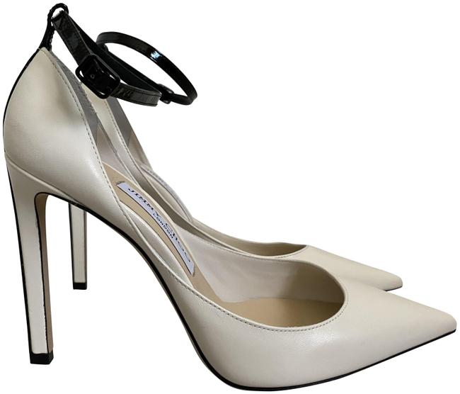 Item - White Helix 100 Latte Leather Pointed Ankle Strap Pumps Size EU 38 (Approx. US 8) Regular (M, B)