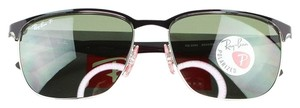 Ray-Ban Lens & Silver/Shiny Black Frame RB3569 90049A Unisex Sunglasses