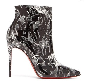 Christian Louboutin Black and White Boots