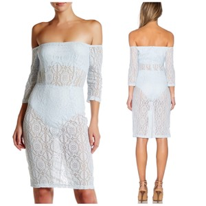 Asilio Off The Shoulder Sheer Panels Alover Lace Sexy Dress