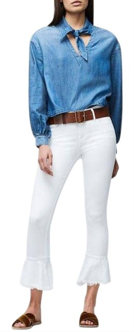 Item - White Le Flounce Skinny Jeans Size 6 (S, 28)
