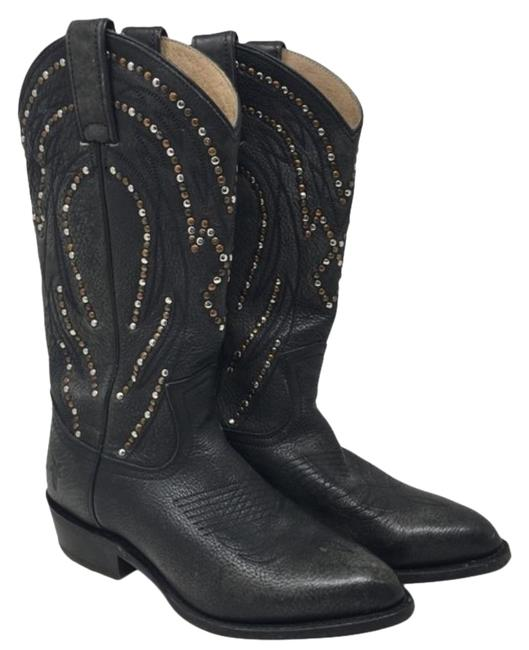 Item - Green Gold Billy Cowboy Studded Leather Boots/Booties Size US 6 Narrow (Aa, N)